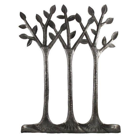 Great, minimalist metal art piece featuring three simple ...
