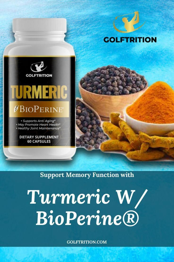 Turmeric w/ Bioperine- Promotes joint health Promotes Healthy Joint Maintenance* assisting thebody in fighting inflammation*and supporting your ability to take solid shots!Made with BioPerine® which helpsincrease the absorption of the supplement meaning you willexperience the maximum effect* of this amazing herb!  Boosts Immunity* which may supportthe body's ability to resist disease* #golfersupplements #supplements #golffitness #golf #golfer #n