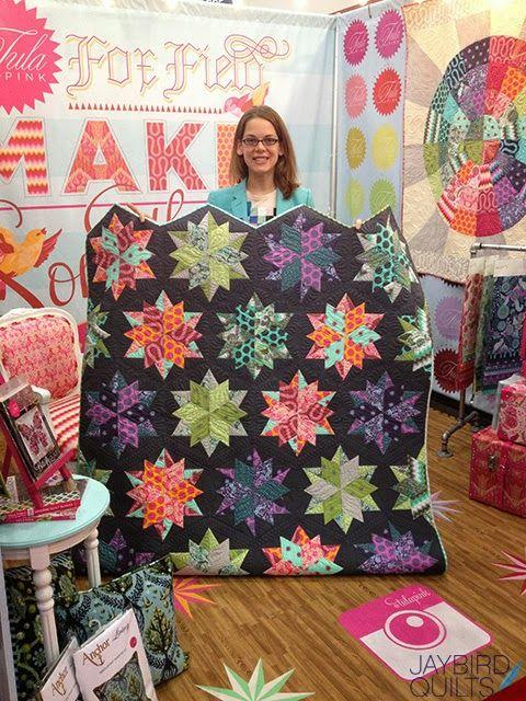 Fall 2013 Quilt Market - Recap #2 - The Tula Pink Edition | Jaybird Quilts - Night Sky