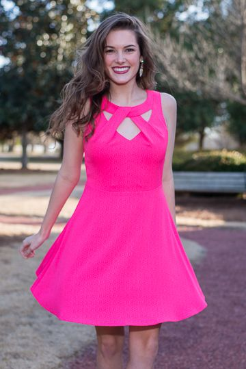 Over The Top Dress, Pink
