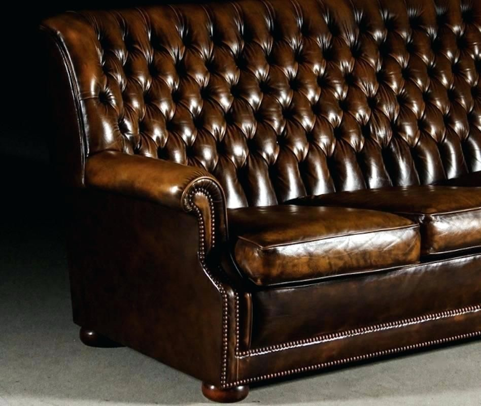 Idea Chesterfield High Back Sofa Or Brown Leather Chesterfield