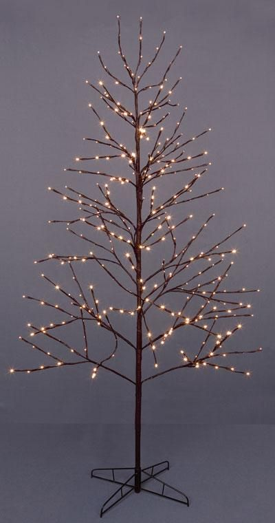 Brown LED twig tree | Twig Christmas trees with lights | Pinterest ...