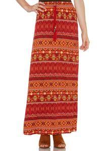 Mixed Stripe Maxi Skirt-Plus