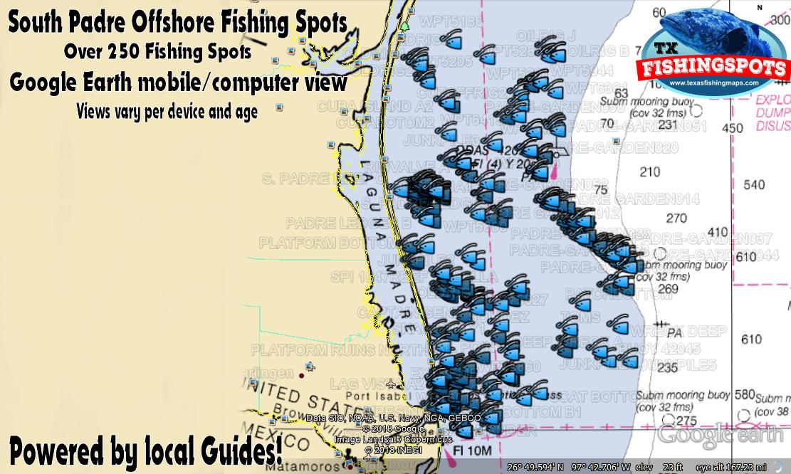 South Padre Island Texas Fishing Spots Texas GPS Fishing
