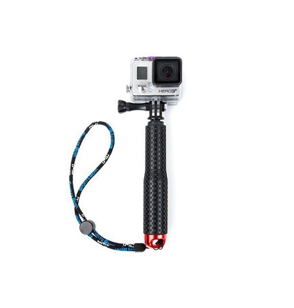 Rubberized Aluminum Monopod with tripod Mount for GoPro