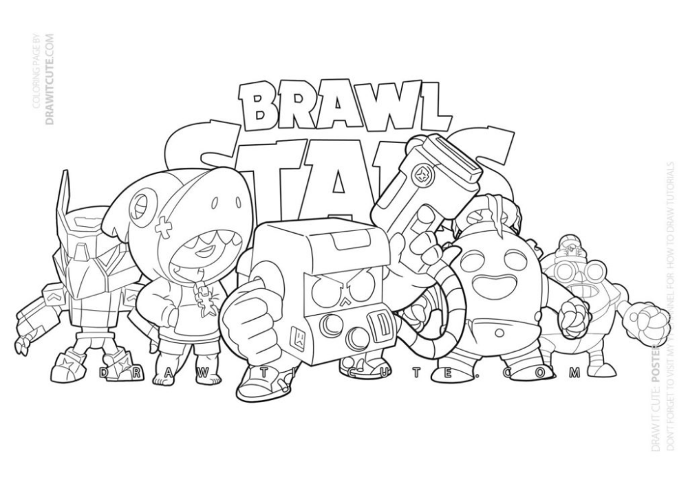 Brawler Brawl Stars Coloring Page Color For Fun Brawlstarsespanol Brawlstarsusa Coloringpage Star Coloring Pages Coloring Pages Coloring Pages For Kids