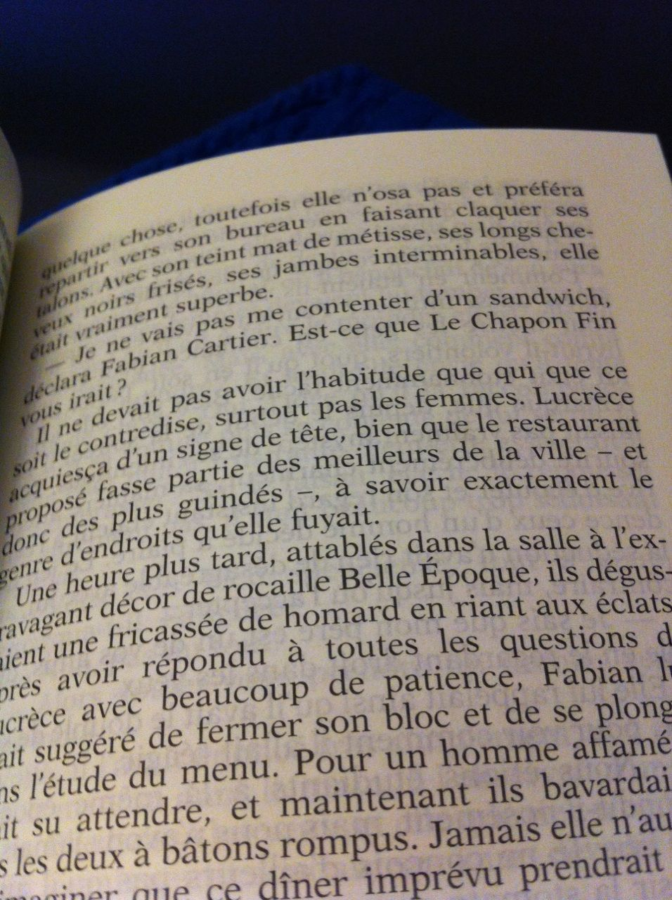 """Dans ce roman le Chapon Fin devient le théâtre d'un tête-à-tête touchant dans les années 80. (""""Les années passion"""", Françoise Bourdin)"""