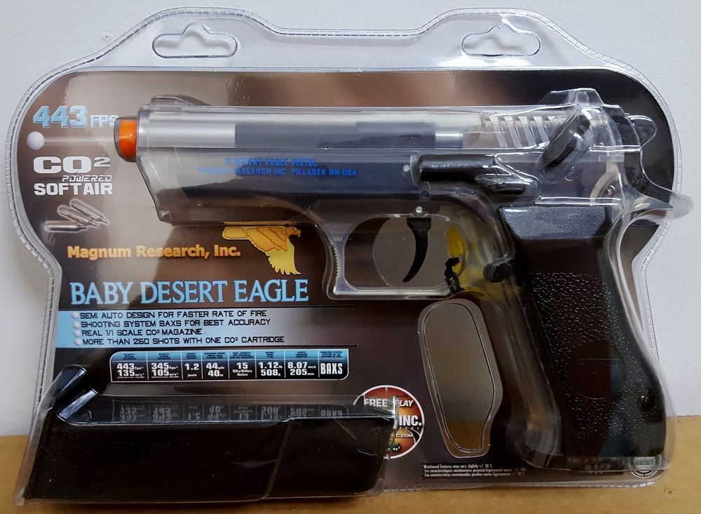 Officially Licensed Baby Desert Eagle Magnum Jericho Co2 Airsoft Bb Pistol Clear Cybergun Baby Desert Eagle Magnum Desert Eagle