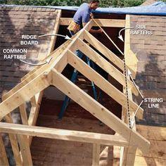 How To Frame A Gabled Dormer Attic Renovation Attic