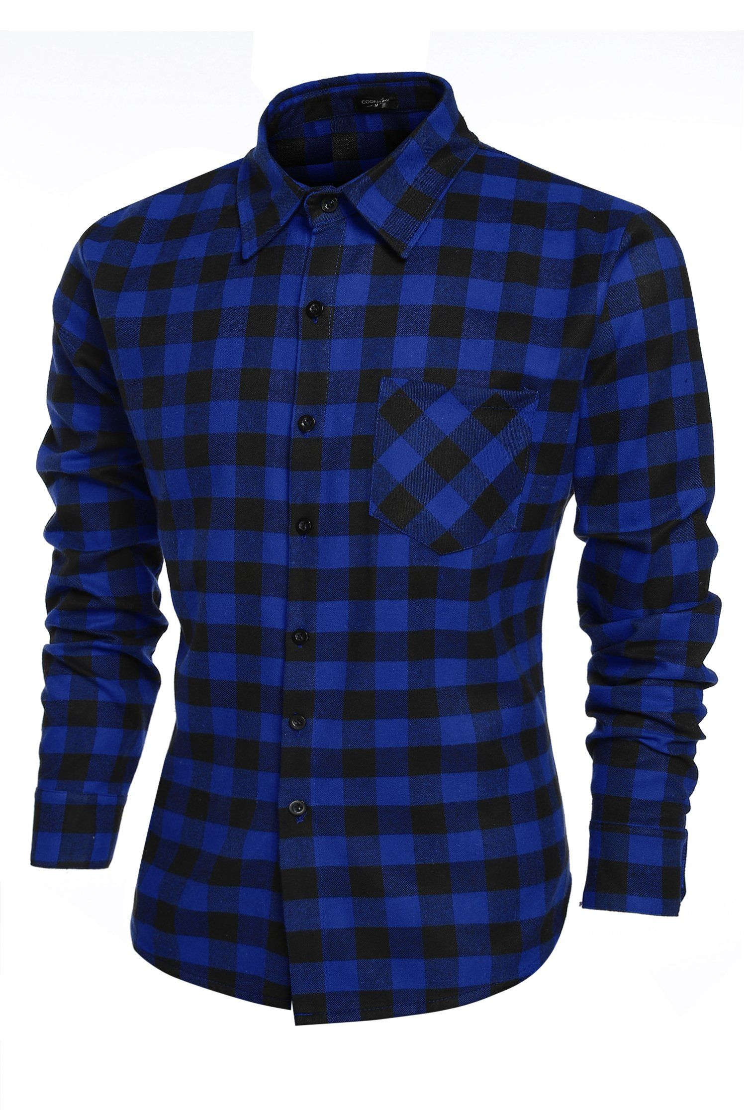 Coofandy Casual Plaid Long Sleeve Shirt Slim Fit T-shirts (Small, Green) at  Amazon Men's Clothing store: