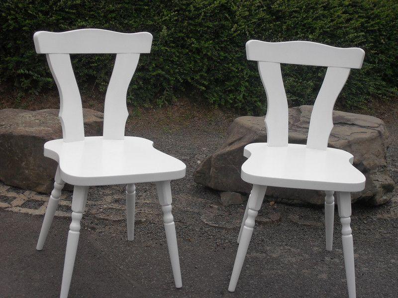Stuhl Shabby Stühle Vorhanden 2stück Holz Weiß Landhaus Ein rtshdQ