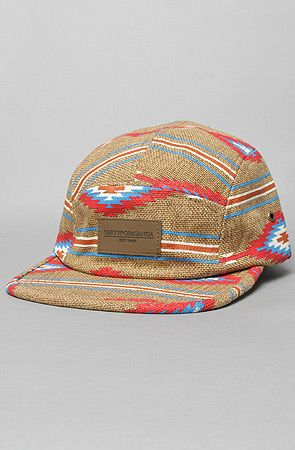 Obey The Prescott 5-Panel Hipster Cap in Natural  776bd7f7516