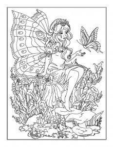 Ein Hubsches Ausmalbild Einer Elfe Mit Einem Schmetterling Die Malvorlage Kannst Du Kostenlos Auf Www Mandala Malen N Bunte Zeichnungen Ausmalen Ausmalbilder