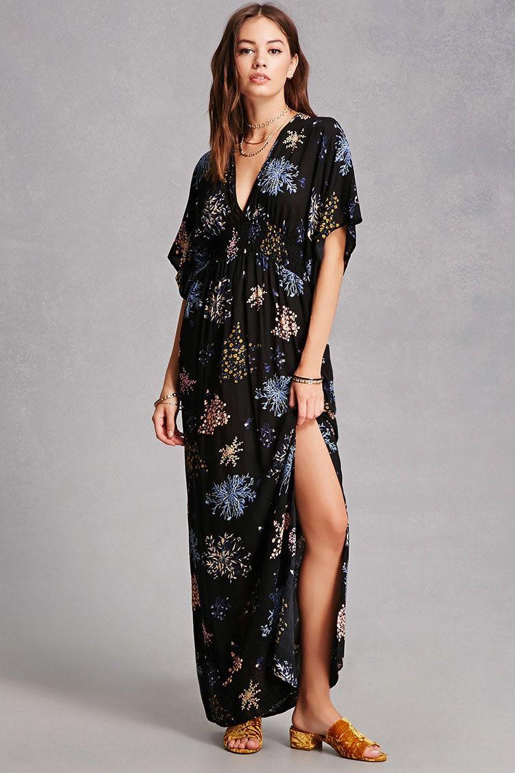 Monica dress a woven maxi dress featuring a floral print short