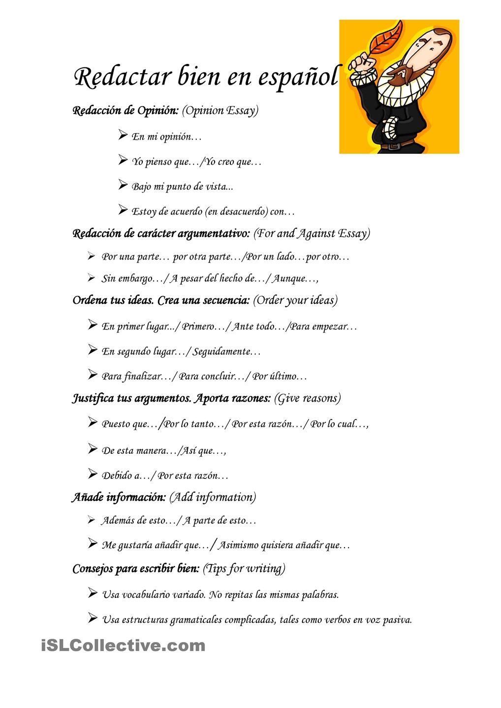 Redactar Bien En Español Como Aprender A Redactar Aula De Español Ap Español