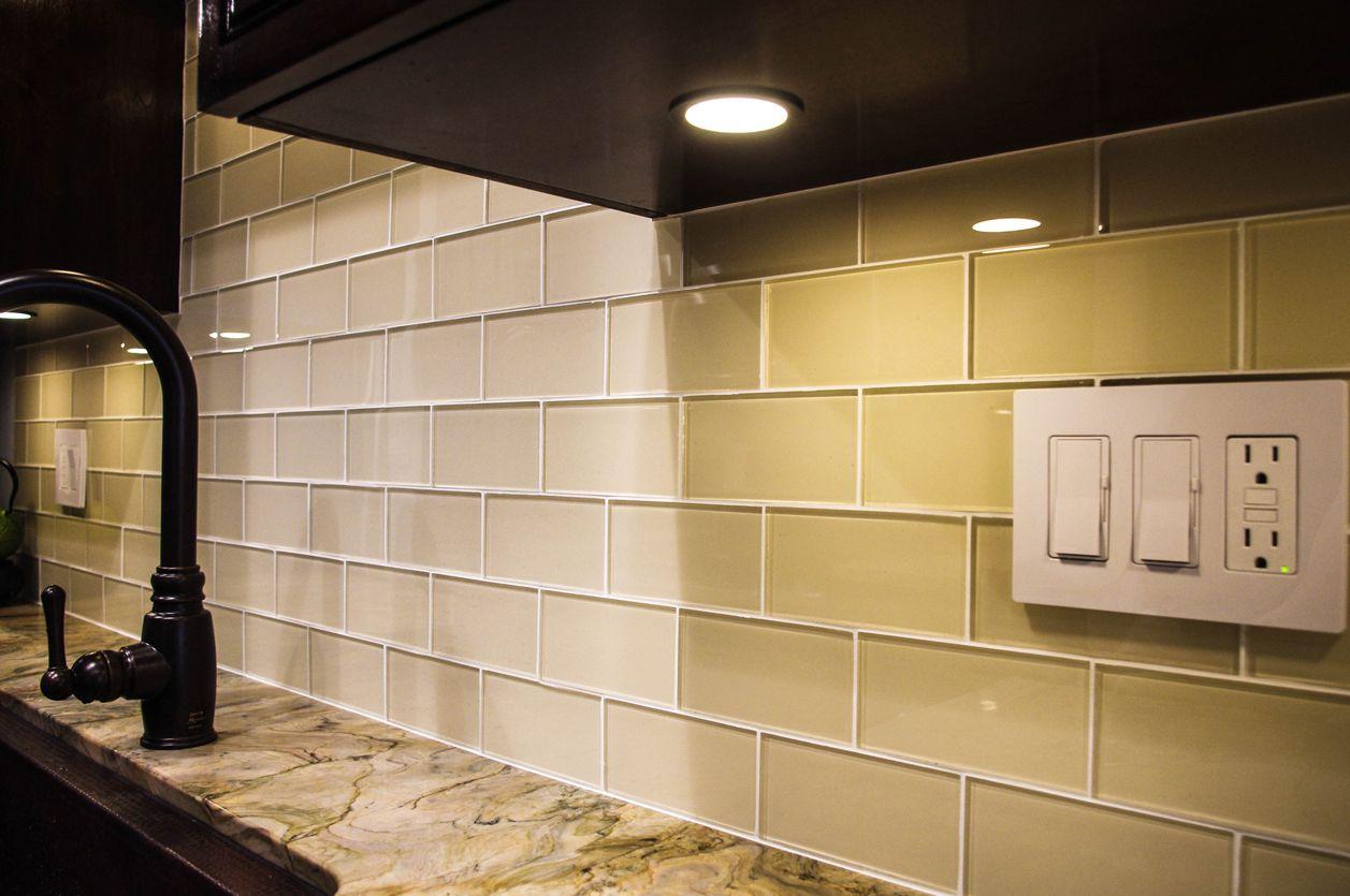 Cream Glass Subway Tile Kitchen Tiles Backsplash Subway Tile