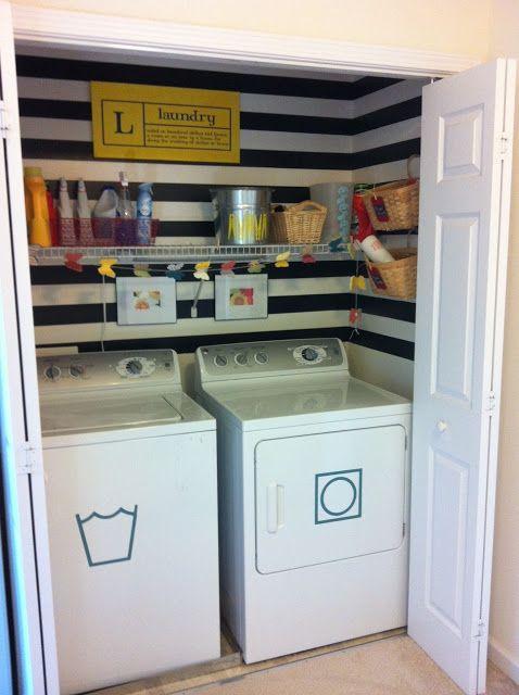 diy cuarto lavanderia en un armario ideas decoracion casa