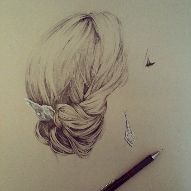 Wedding Hairstyles Drawing: Jewellery, Hair Accessories, Eyelashes