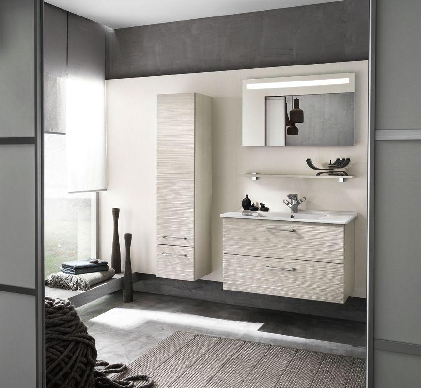Meuble De Salle De Bains Avec Plan Vasque Onde Delpha Salles - Meuble de salle de bain delpha pour idees de deco de cuisine