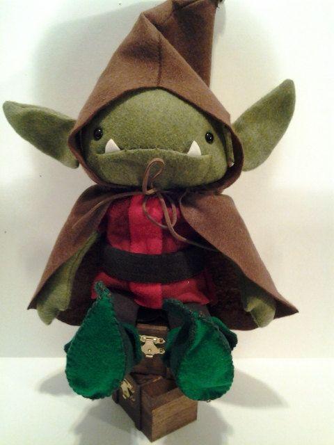 Kids Toy Plush Doll Christmas Elf Goblin Troll by plushplex, $40.00 ...