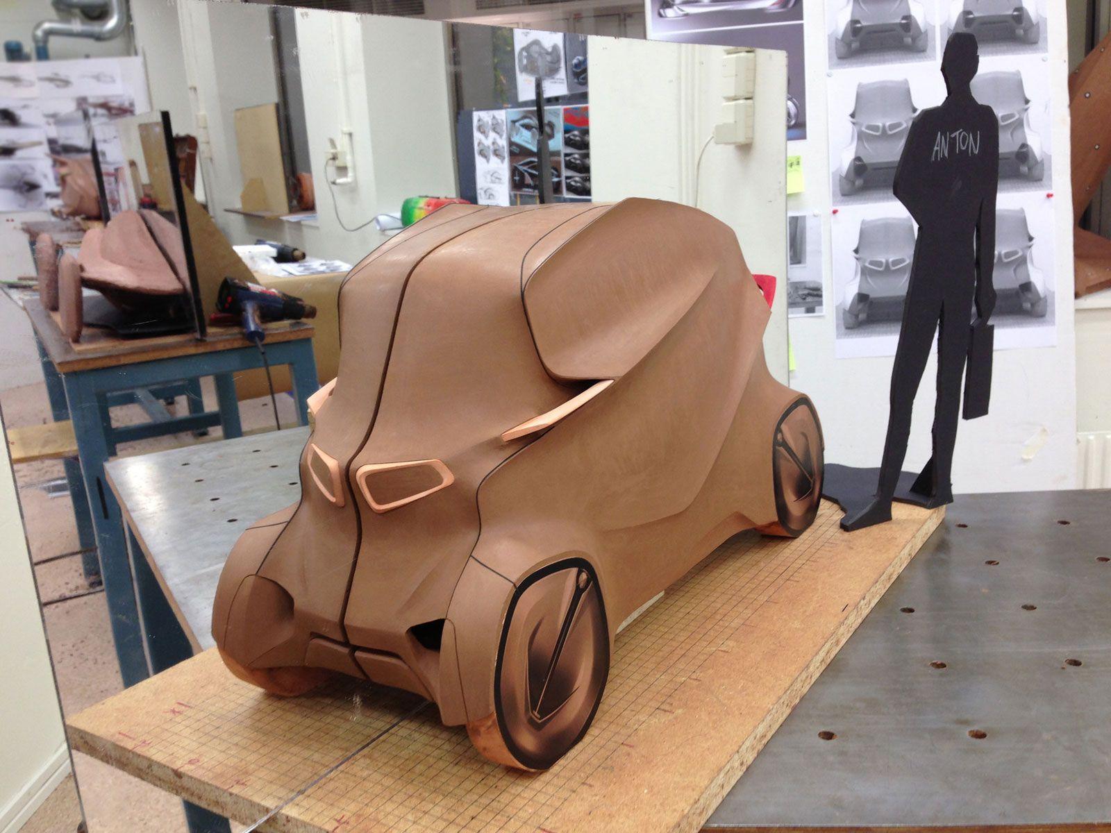 Design of car model - Bmw Quart Concept By Yujin Kim Clay Model