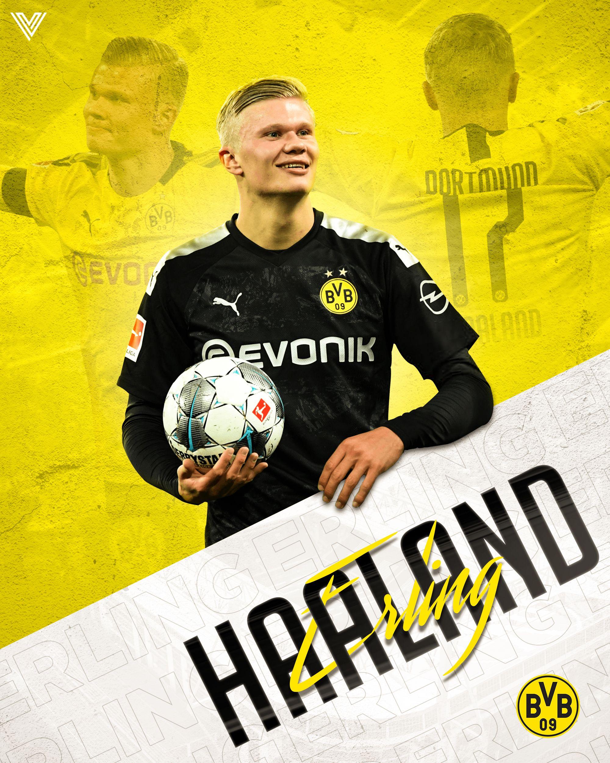 Erling Haaland Poster Design Vathana Meng In 2020 Football Poster Soccer Memes Sport Poster