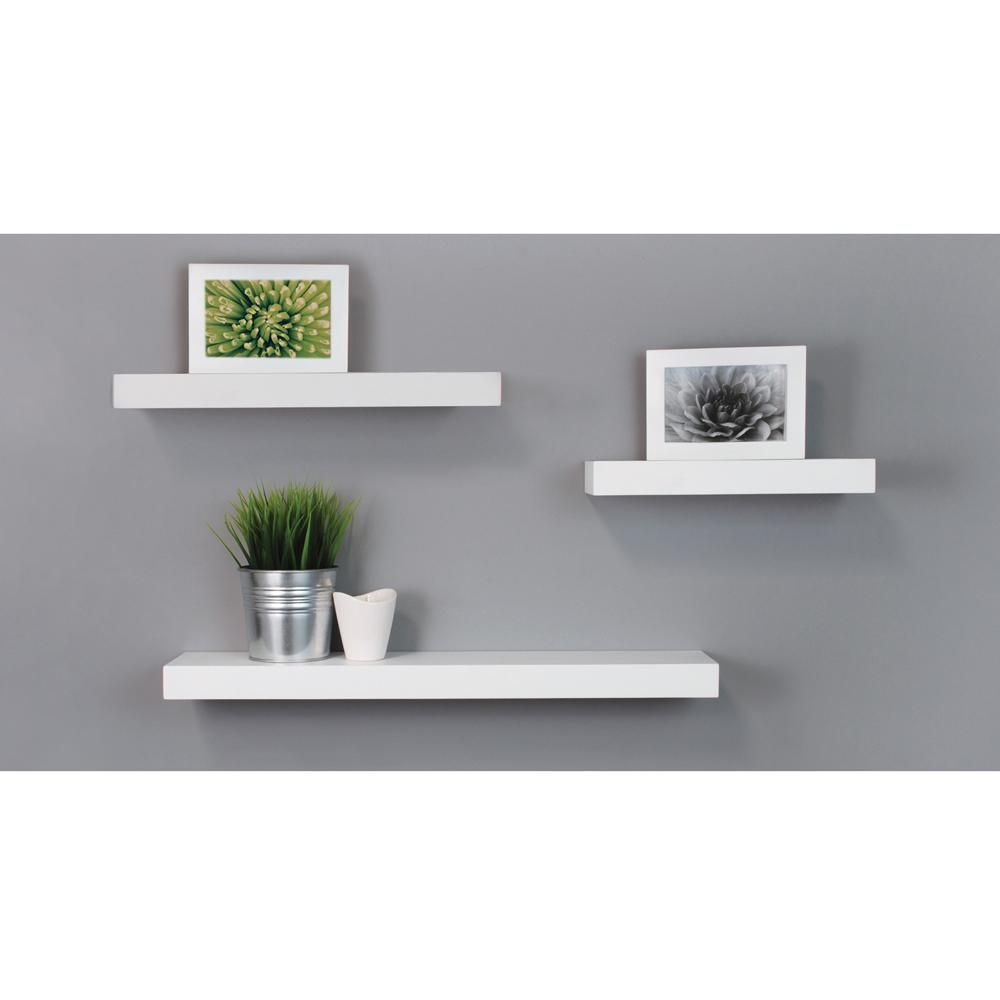 Kiera Grace Kieragrace Maine Wall Shelves Set Of 3 Fn00373 7 Modern Floating Shelves White Floating Shelves Wall Ledge