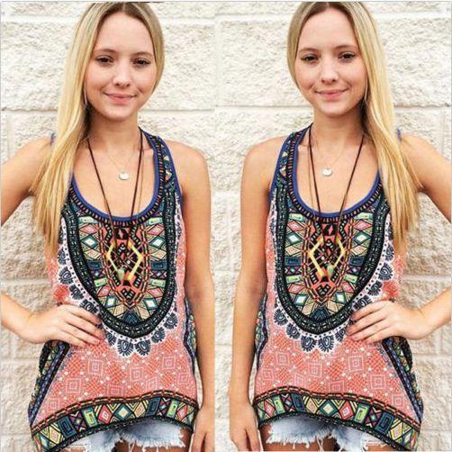 Summer Women Fashion Vest Top Sleeveless Shirt Blo
