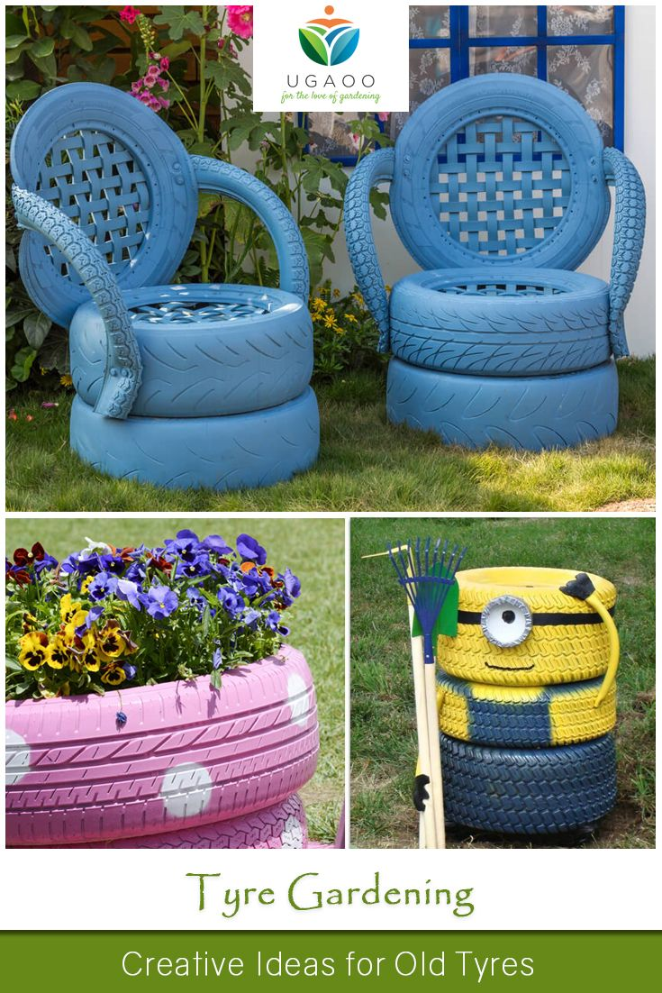 Tyre Gardening Gardens Grown In Old Tyres Look Cute And They Are Cheap Too We Offer You Some Creative Ways To Reuse The Garden