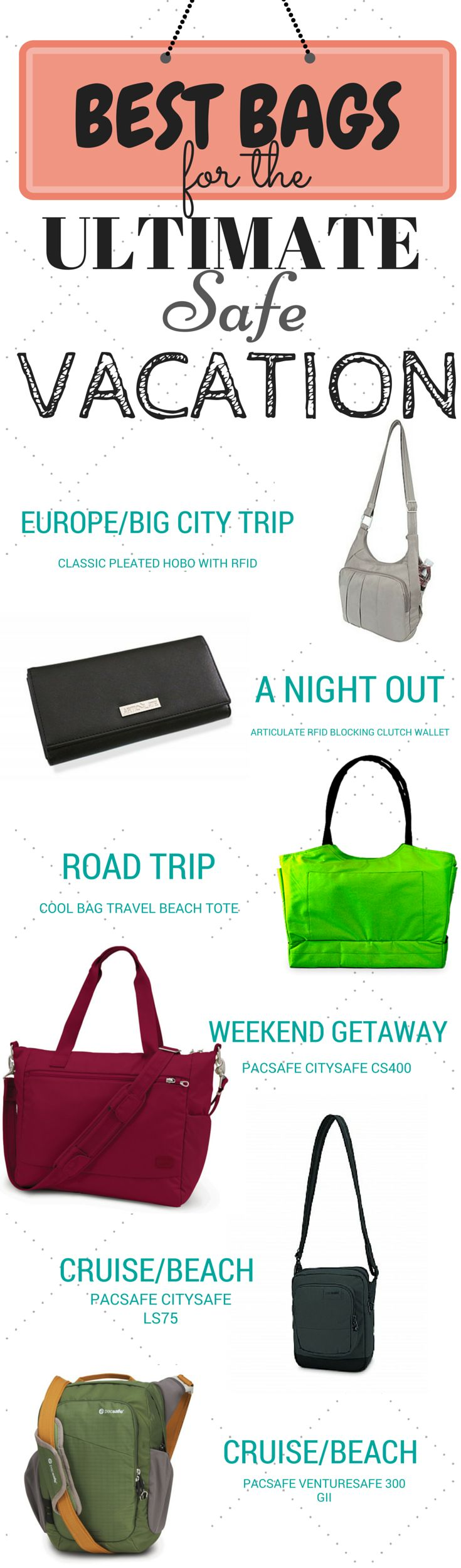 Best Handbags And Purses For Women The Ultimate Safe Vacation Trip