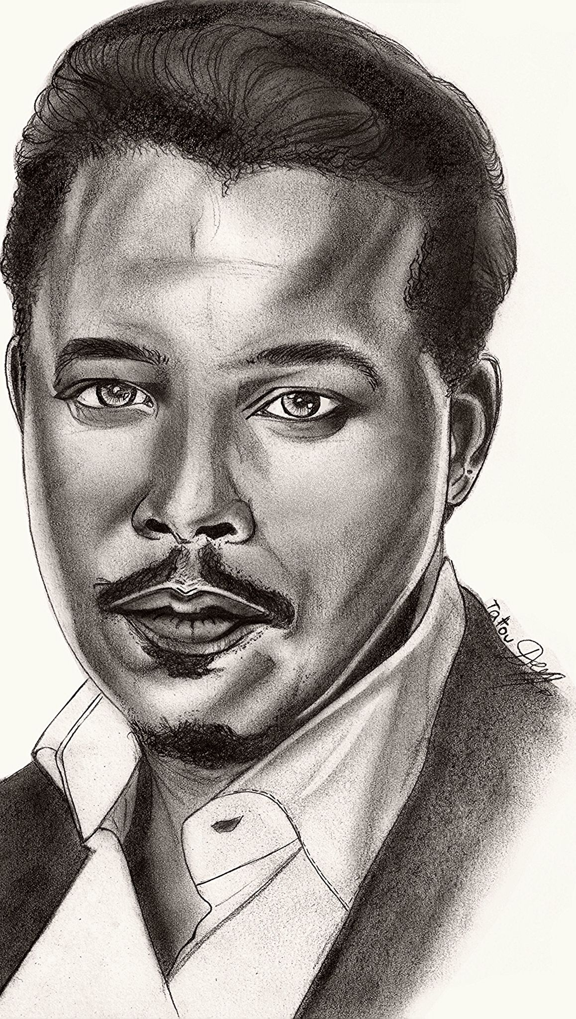 Drawing / portrait / sketch of Terrence Howard. Aka LUCIOUS Lyon / Empire :)