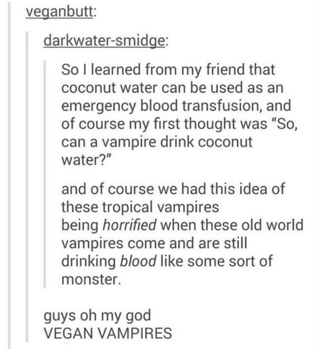 vegan vampires