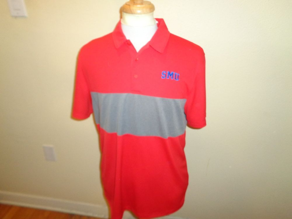 77edf3b5 NEW NWT Mens Lrg Nike Dri Fit Golf SMU Mustangs Icon Color Block Polo shirt  #