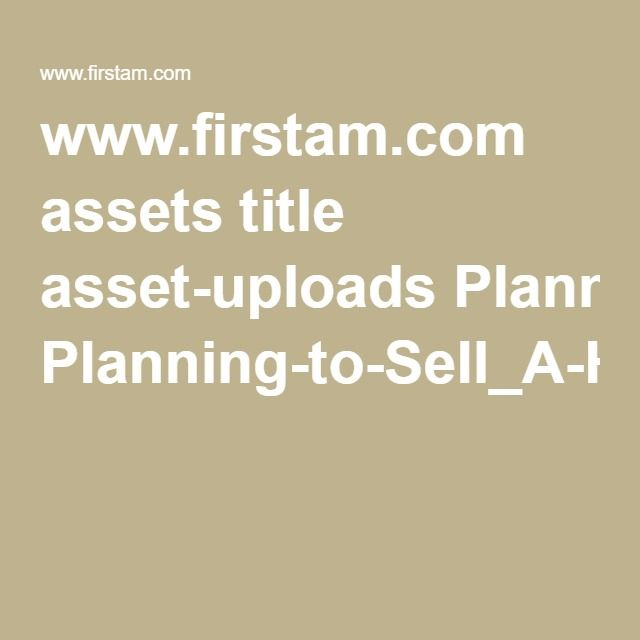 www.firstam.com assets title asset-uploads Planning-to-Sell_A-Homeowners-Checklist-14448.pdf
