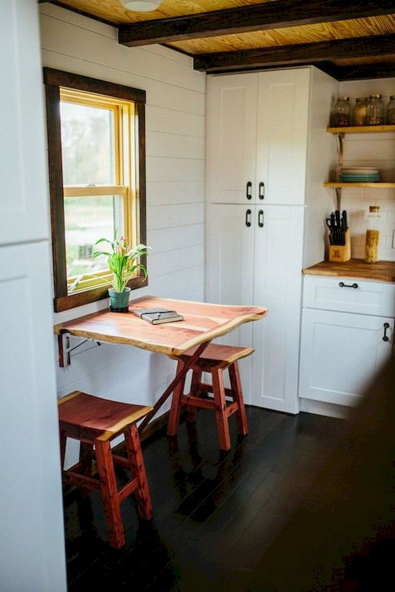 60 Amazing Tiny House Kitchen Design Ideas Tinyhouses Kitchens Kitchendesignideas Tiny House Kitchen Tiny Dining Rooms Dining Room Small