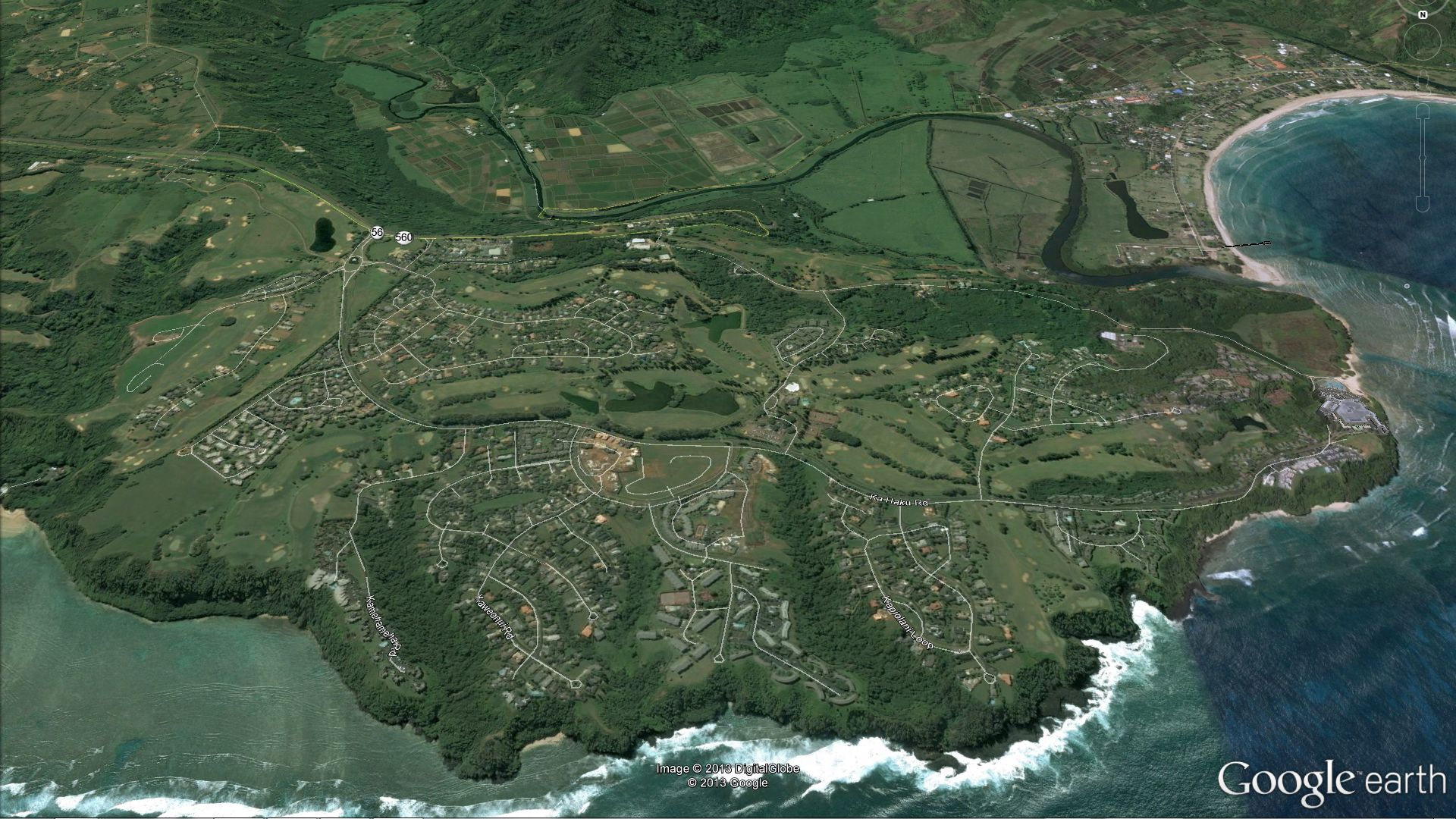 Princeville Kauai Restaurants Princeville Google Earth