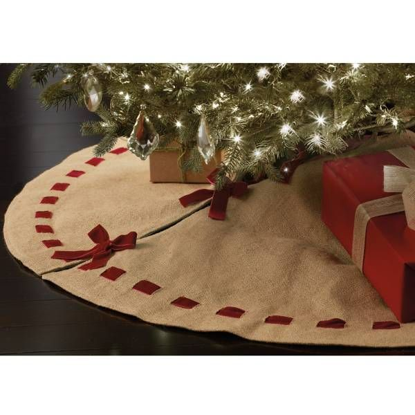 beekman 1802 heirloom holiday burlap christmas tree skirt bed bath beyond more - Bed Bath And Beyond Christmas Decorations
