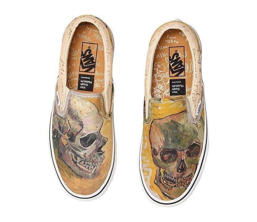 Vans X Vincent Van Gogh Skull Mens 6 5 Womens 8 Nib New Skateboarding Shoes Fashion Clothing Shoes Accessories Mensshoes Casuals Vans Shoes Vans Sneakers