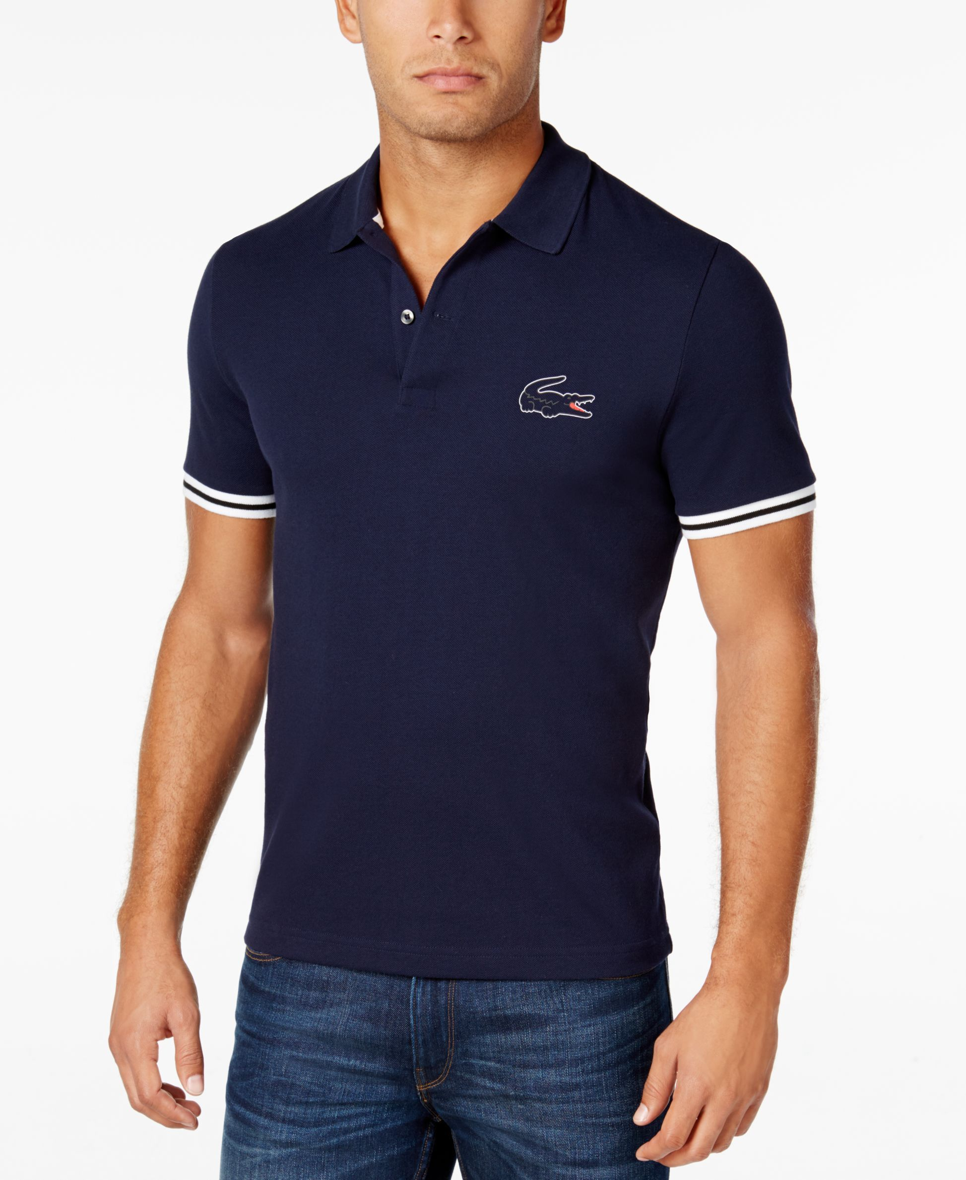 Lacoste Mens Tipped Sleeve Polo Shirts Pinterest Lacoste Men