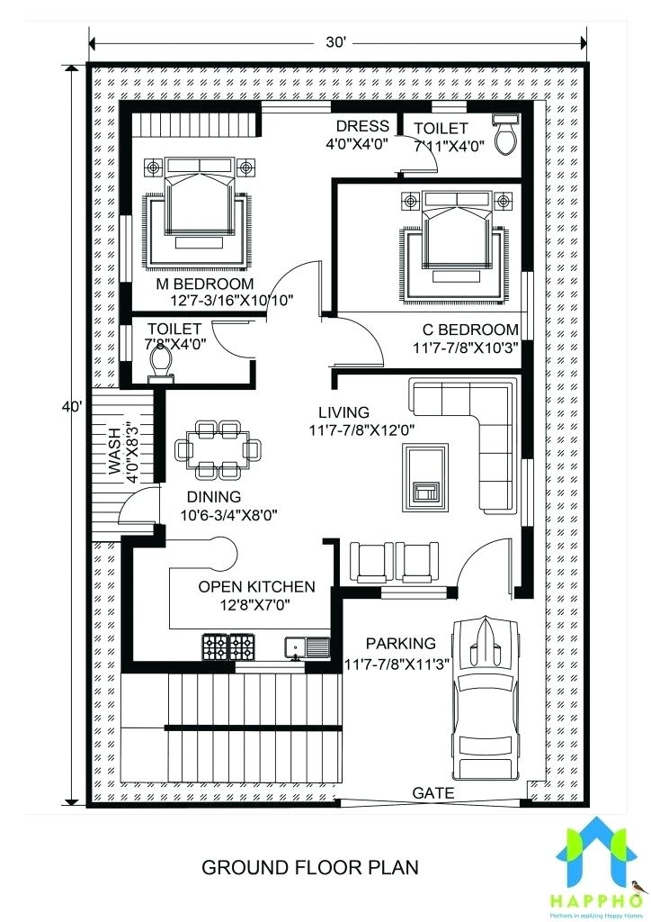 30 40 House Plans House Floor Plans Luxury Floor Plan For X Feet Plot Of 30 X 40 Duplex House Plans South 30x40 House Plans Indian House Plans 2bhk House Plan