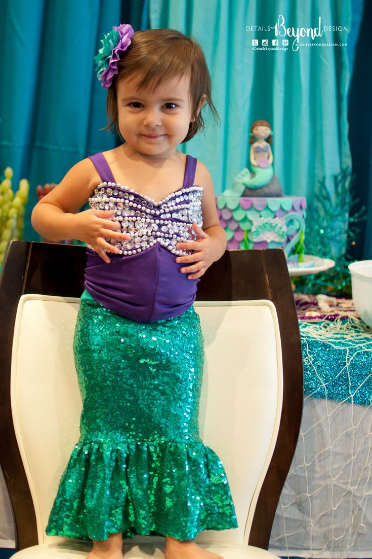 Mermaid Birthday Party Outfit Under The Sea Party Birthday Party