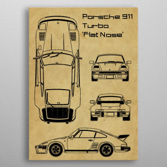 Porsche 911 Turbo Flat by FARKI15 DESIGN | metal posters - Displate | Displate thumbnail