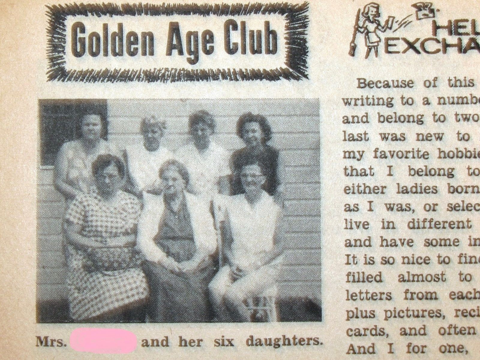 From the March 1963 issue of Women's Household Magazine. Happy family photos. Vintage family photos. DNA Buffet ~ betcha they have different personalities, too!