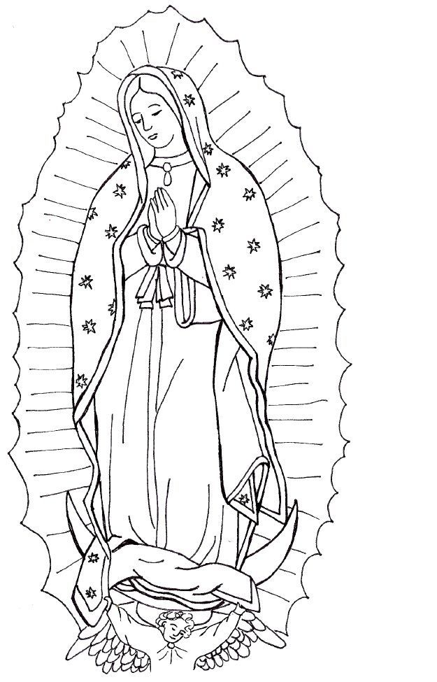 Skills Our Lady Of Guadalupe Coloring Page Free Printable