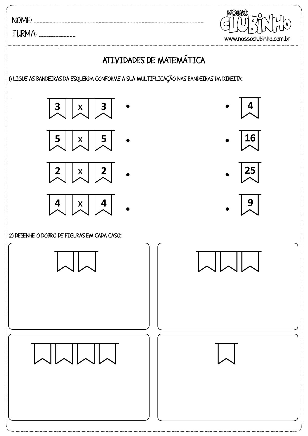 Atividades de matemática sobre festas juninas | InfoEdu ...