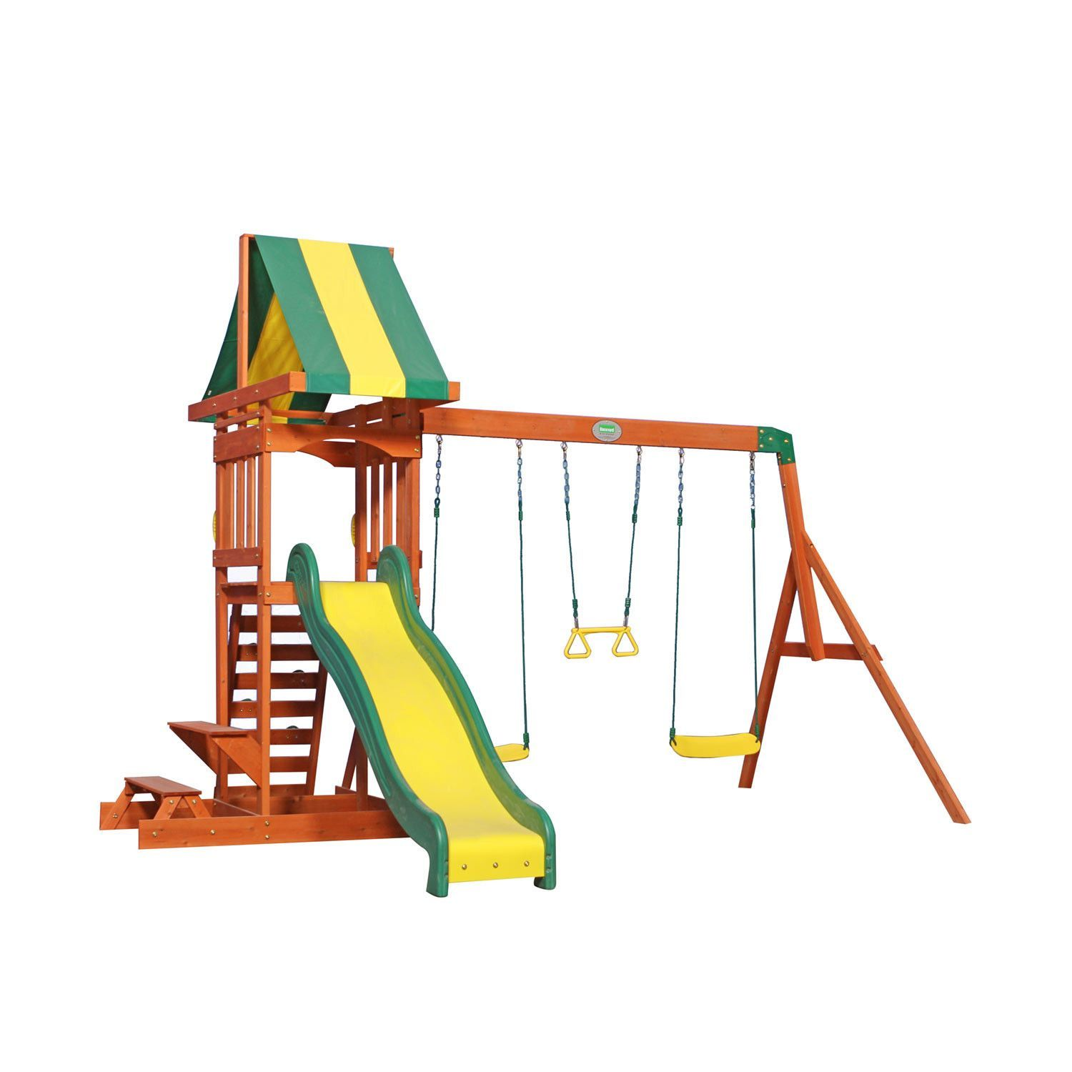 the prestige is a great swing set for small yards but still has