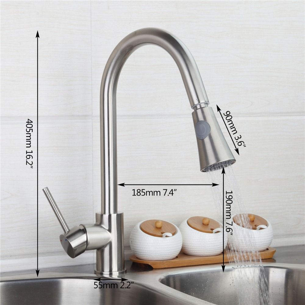 Brushed Nickel Kitchen Faucet Modern Kitchen Mixer Tap Swivel Beauteous Brushed Nickel Kitchen Faucet Inspiration