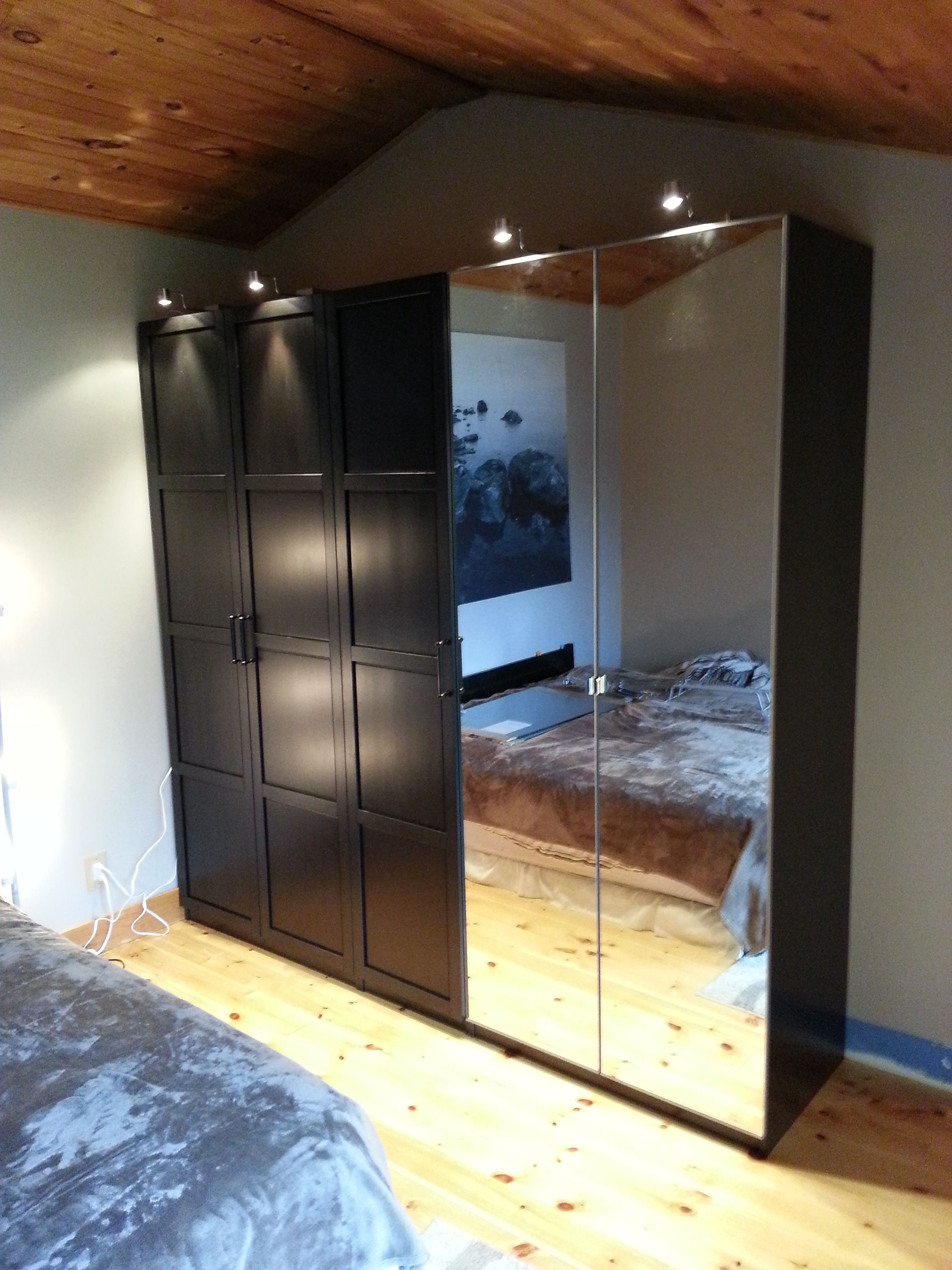 ikea pax wardrobe home renovation pinterest. Black Bedroom Furniture Sets. Home Design Ideas