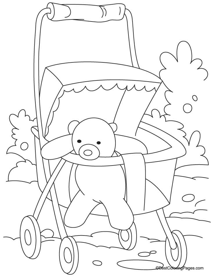 pram coloring page 2 download free pram coloring page 2 for kids best coloring - Colouring In Pictures For Children 2