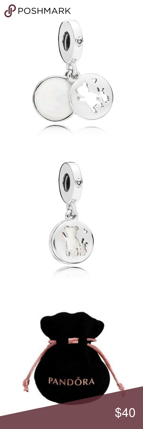 2bd9e90e3 Pandora Perfect Pals Char NEW This charm is special for that precious  friendship with a silhouette